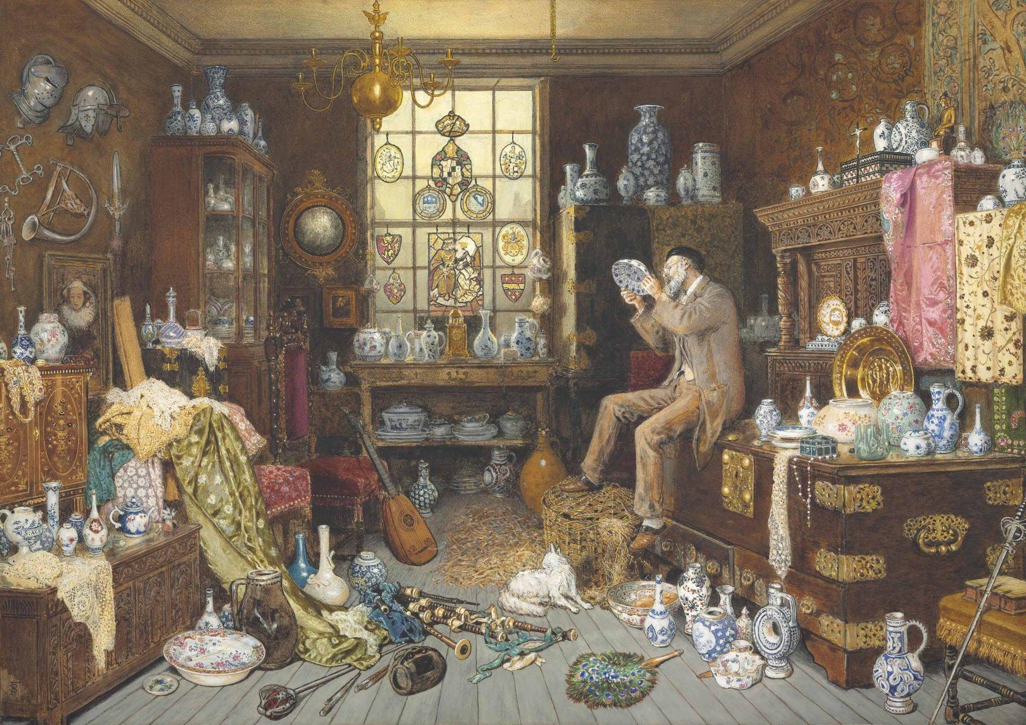 Myles_Birket_Foster_-_The_Old_Curiosity_Shop