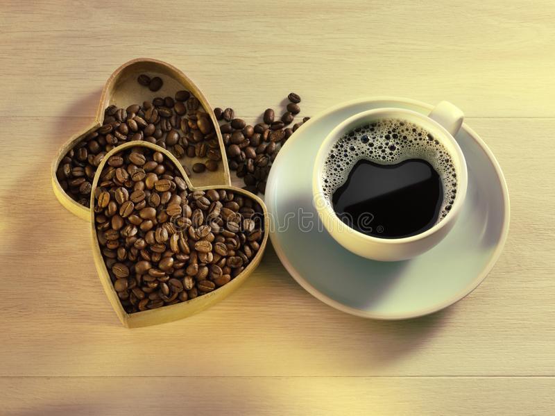 heart-box-coffee-beans-cup-fresh-black-coffee-wood-background-love-coffee-cup-111105900